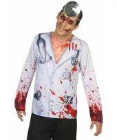 Carnavalskleding horror dokter shirt
