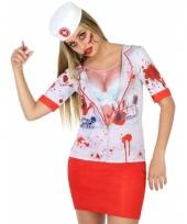 Carnavalskleding horror zuster shirt