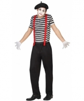 Carnavalskleding mime voor heren