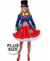 Carnavalskleding plus size clowns jurkje
