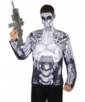 Carnavalskleding robot-shirt