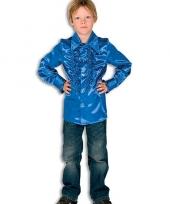 Carnavalskleding rouches kobaltblauw voor kinderen 10037350