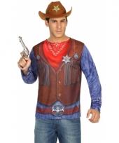 Carnavalskleding sheriff shirt