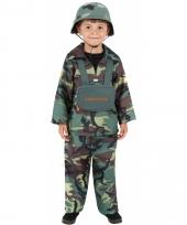Carnavalskleding soldaat kinderen