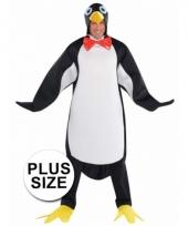 Carnavalskostuum pinguin voor heren xxl