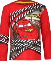 Cars kinder t-shirt rood