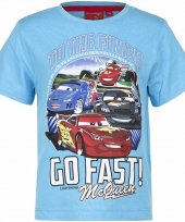 Cars shirt lightning mcqueen blauw