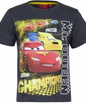 Cars shirt lightning mcqueen grijs