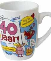 Cartoon mok 40 jaar vrouw