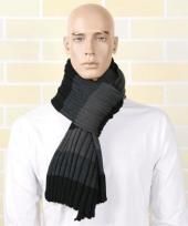 Casual sjaal grijs met zwart