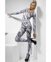 Catsuit met zebra print voor dames