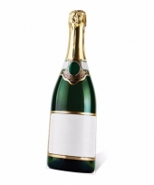 Champagne fles decoratie bord