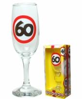Champagne glas 60 jaar 190 ml