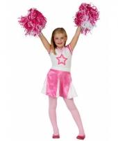 Cheerleader kinder verkleedjurkje roze