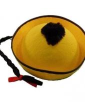 Chinees hoedje met vlecht 10033222