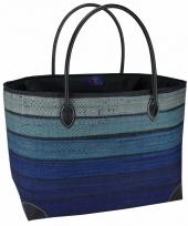 Chique strand tas happy blue blauw 49 cm