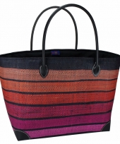 Chique strand tas happy coral rood 49 cm