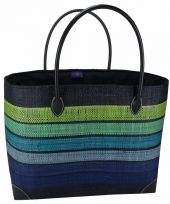 Chique strand tas happy men blauw 49 cm