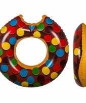 Chocolade donut zwemband met spikkeltjes