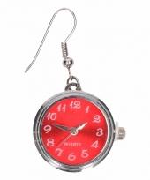 Chunkoorbellen zilveren rode klok voor volwassenen