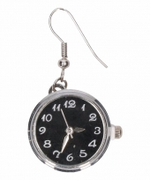 Chunkoorbellen zilveren zwarte klok voor volwassenen