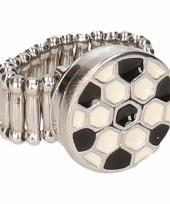 Chunkring zilveren voetbal voor volwassenen