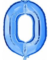 Cijfer ballon in blauw 0