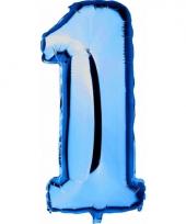 Cijfer ballon in blauw 1