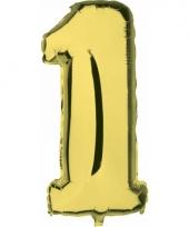 Cijfer ballon in goud 1