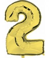 Cijfer ballon in goud 2