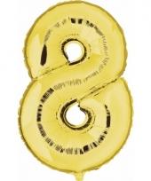 Cijfer ballon in goud 8