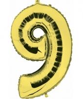 Cijfer ballon in goud 9