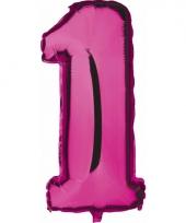 Cijfer ballon in roze 1