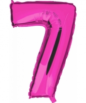 Cijfer ballon in roze 7