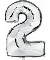 Cijfer ballon in zilver 2