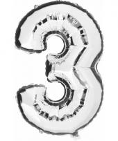 Cijfer ballon in zilver 3