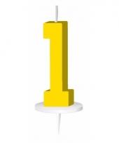 Cijfer kaarsen geel 1