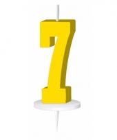 Cijfer kaarsen geel 7