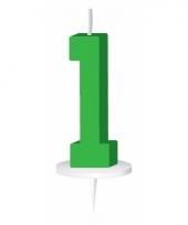 Cijfer kaarsen groen 1