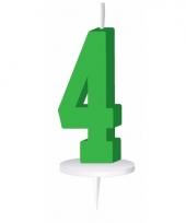 Cijfer kaarsen groen 4