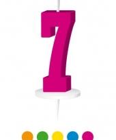 Cijfer kaarsen groen 7