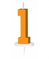 Cijfer kaarsen oranje 1