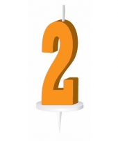 Cijfer kaarsen oranje 2