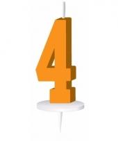 Cijfer kaarsen oranje 4
