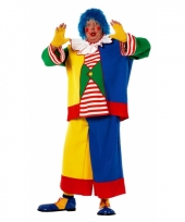 Clowns carnavalskleding voor heren in een grote maat