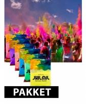 Color run kleurenpoeder pakket 7 st