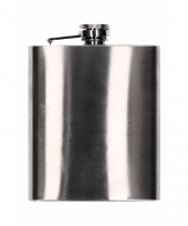 Compacte rvs heupflacon heupfles 200 ml