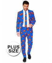 Compleet kostuum met superman logo 10064722