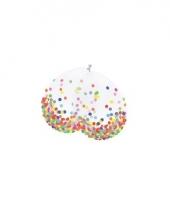 Confetti ballonnen 6 stuks