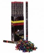 Confetti knaller metallic kleuren 80 cm